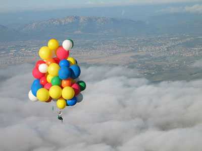 Up above the world so high...